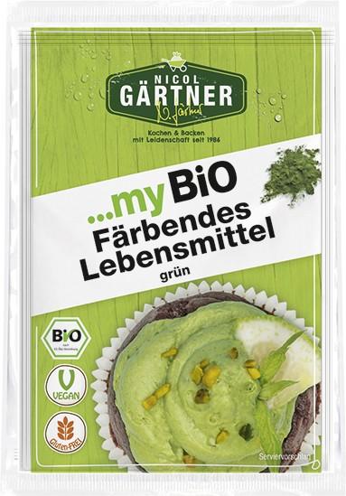 NICOL GÄRTNER Färbende Lebensmittel grün, BIO, 2x8 g (MHD 31.03.2021)