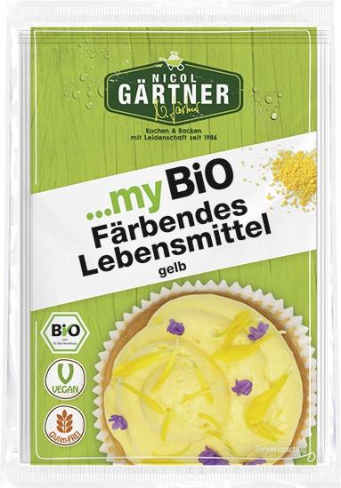 NICOL GÄRTNER Färbende Lebensmittel gelb, BIO, 2x8 g